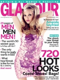 Amanda Seyfried Talks Panic Attacks and Justin Timberlake in Glamour UK November 2011