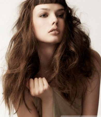 Chic Long Brunette Hairstyle
