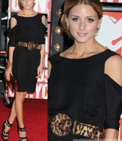 Olivia Palermo in Susan Woo Cut-out Dress