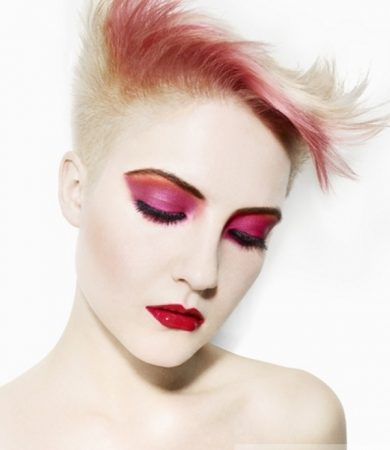 Blonde and Pink Hair Style