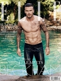 Wet and Shirtless David Beckham Covers ELLE UK July 2012