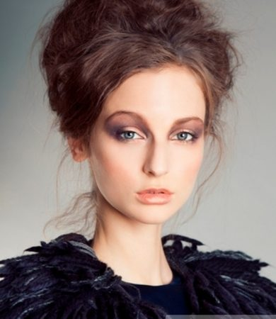 Chic Messy Updo Hairstyle