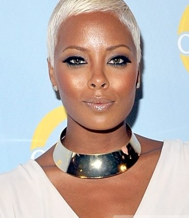 Pictures Eva Marcille Pigford Hairstyles Eva Marcille White Blonde Short Hairstyle