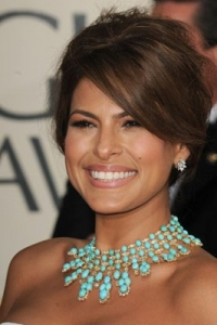 Get Eva Mendes' Updo Hairstyle