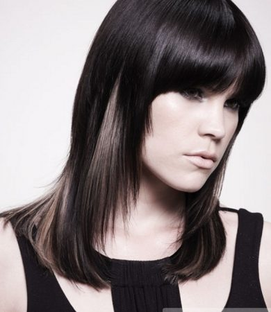 Black Hair and Blonde Highlights