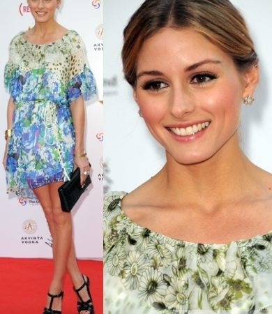 Olivia Palermo in Floral Print Dress