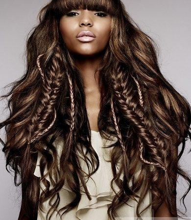 Long Hairstyle with Bangs and Braids