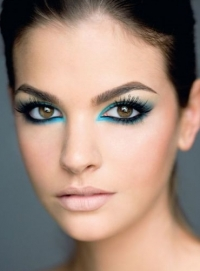 Party Makeup with Glitter and Shimmer