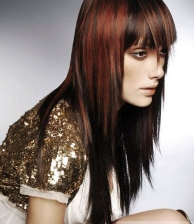Chic Red Hair Highlights
