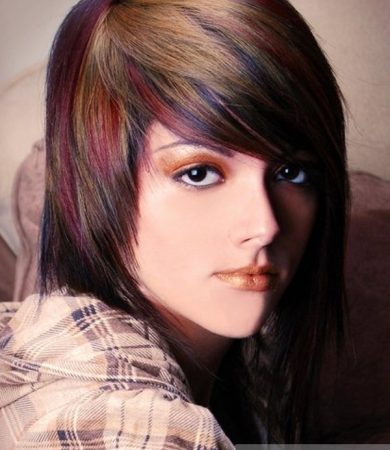 Funky Colorful Hair Highlights