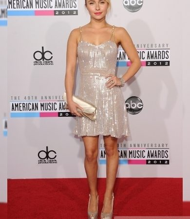 Hayden Panettiere in Sequin Dress at the 2012 AMAs