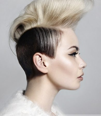 Hip Black and Blonde Mohawk Hairstyle