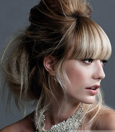 Lovely Messy Updo Hair Style