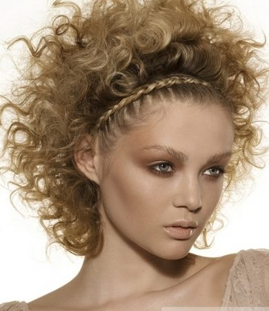 Curly Braided Hair Style