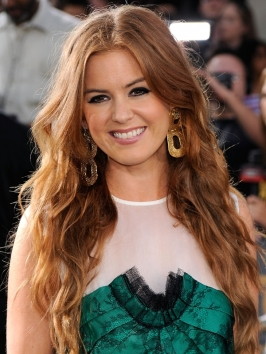 Pictures Isla Fisher Hairstyles Isla Fisher Long Tousled Wavy Hairstyle