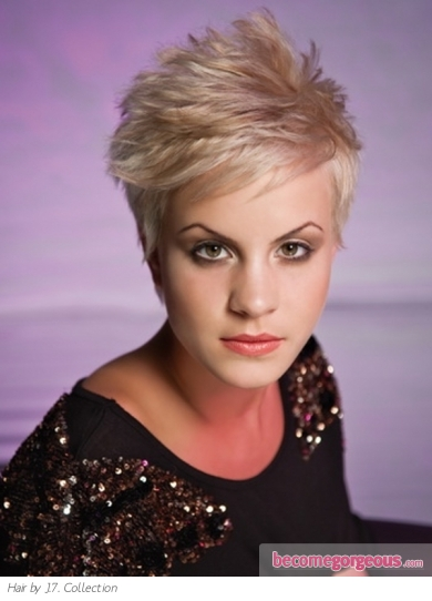 Pictures Short Hairstyles Short Razor Cut Hair Style