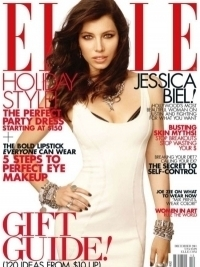 Jessica Biel Covers ELLE US December 2011