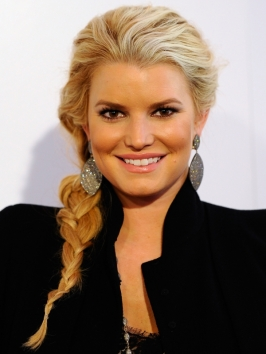 Jessica Simpson Casual Side Braid Hairstyle