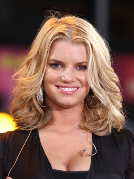 Jessica Simpson Shoulder Length Hairstyle