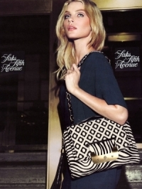 Jessica Stam for Saks Fifth Avenue Catalog