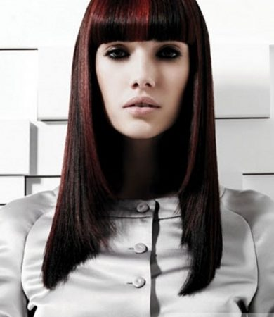 Red Highlights For Black Hair