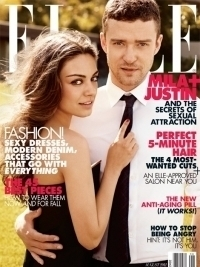 Justin Timberlake and Mila Kunis Cover Elle August 2011