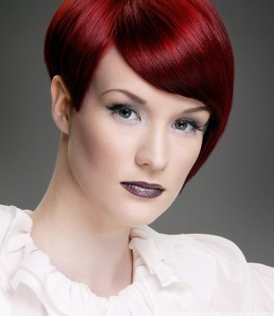 Short Fiery Red Haircut
