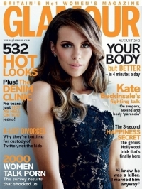 Kate Beckinsale Covers Glamour UK August 2012