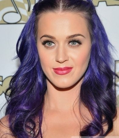 Katy Perry's Long Purple Hairstyle
