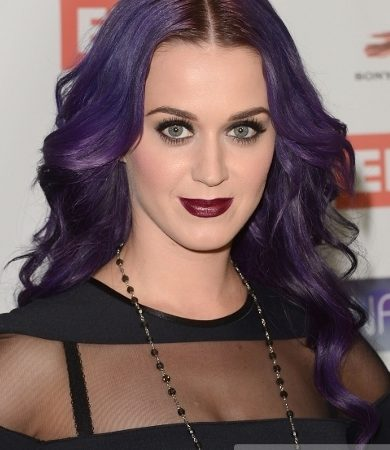 Katy Perry's Purple Curls Hairstyle