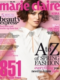 Keira Knightley Covers Marie Claire Australia September 2011