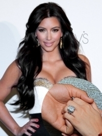 Kim Kardashian Engaged! Shows Off $2M Engagement Ring