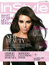 Kim Kardashian Covers InStyle UK August 2012