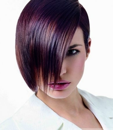 Medium Purple Hair Style