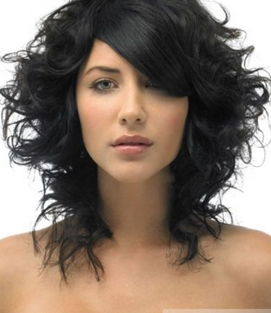 Black Layered Curly Hair Style