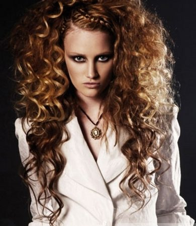 Curly Bouffant Hair Style