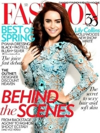 Lily Collins Covers Fashion April 2012
