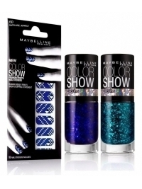 Maybelline Color Show Fashion Prints Nail Stickers and Sequins