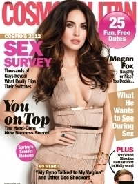 Megan Fox Talks Love and Bad-Girl Image with Cosmopolitan April 2012