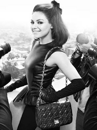 Mila Kunis for Miss Dior Handbag Fall/Winter 2012 Campaign