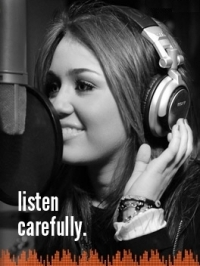 Miley Cyrus Launches 'Listen Carefully' Campaign
