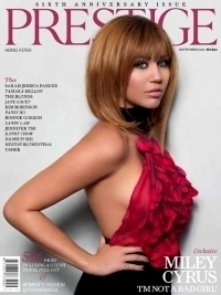 Miley Cyrus Covers Prestige Magazine September 2011