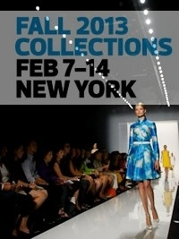New York Fashion Week Fall 2013 Schedule