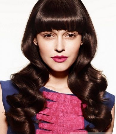 Stylish Long Dropped Curls Hair Style
