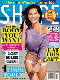 Olivia Munn Talks Eating Habits and Workout in Shape October 2011