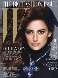 Penelope Cruz Covers W Magazine's September 2012 Issue