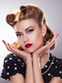 50s Hairstyles: Short Pin Up Hairstyles