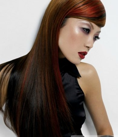 Colorful Long Hair Highlights