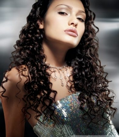 Long Tight Curls Hairstyle