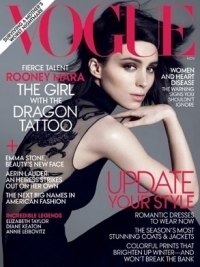 Rooney Mara 'The Girl With The Dragon Tattoo' Covers Vogue November 2011